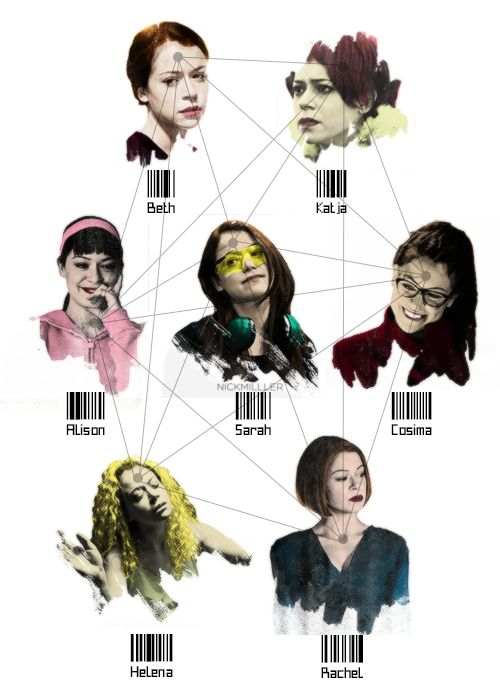 My new favorite TV show on BBC America - ORPHAN BLACK -- A fan made this who isn't me. So fun.