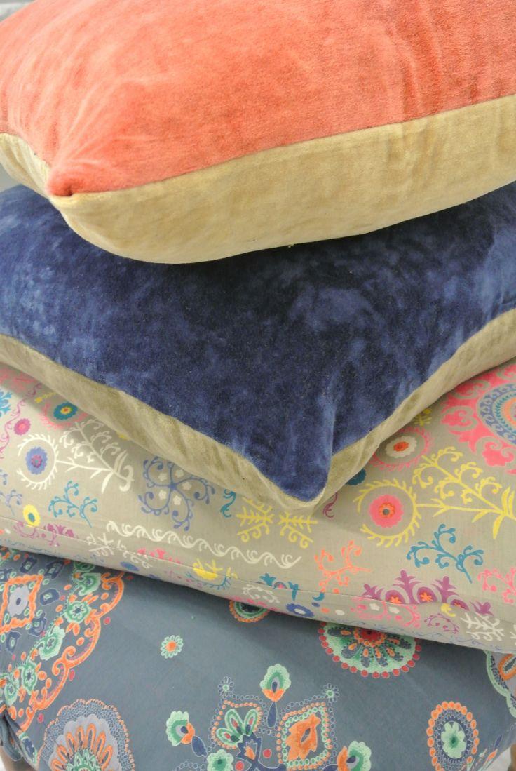 Cotton Velvet cushion, cotton Suzani pillowcases