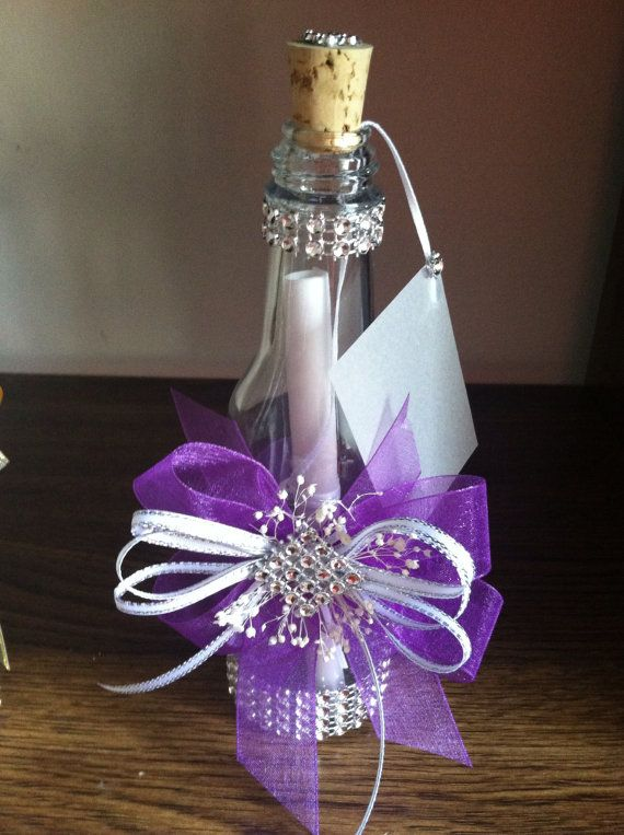Quinceanera Wedding Bottles And Invitations On Pinterest