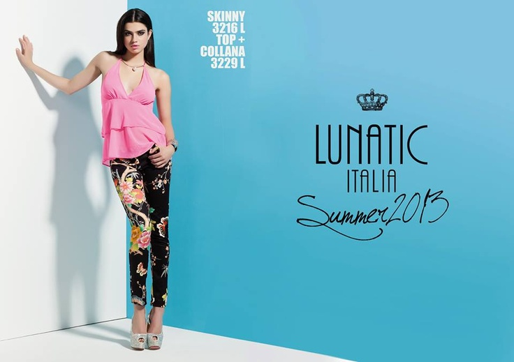 LUNATIC SUMMER COLLECTION 2013 FASHION WOMAN MADE IN ITALY http://www.lunatic.it/   print flowers pants stampa fiori pantaloni perle pearls summer2013 estate 2013