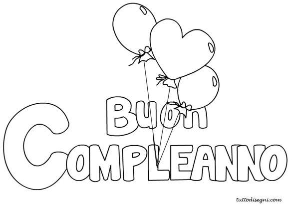 """scritta """" Buon Compleanno """" con palloncini"""