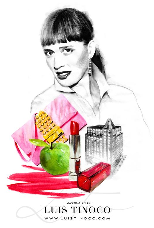 "MAYBELLINE NYC GUIDE 2014 ""BCKSTG"" Charlotte Willer Portrait ILLUSTRATION by LUIS TINOCO http://www.luistinoco.com/"