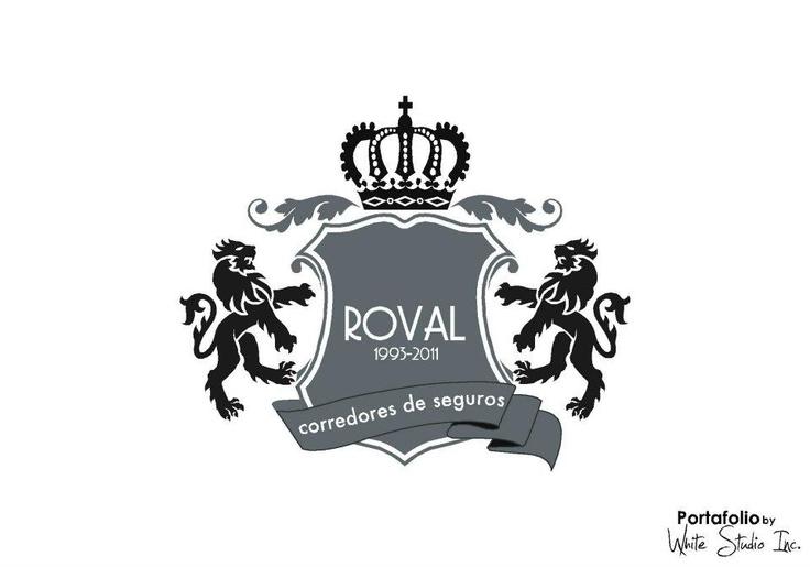 Escudo diseñado para la celebración de los 18 años de ROVAL S.A. DE C.V., agencia corredora de seguros de El Salvador. Creado por White Studio Inc.