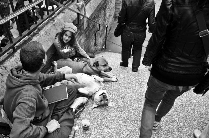 Crisis & Family - London - Street Photography