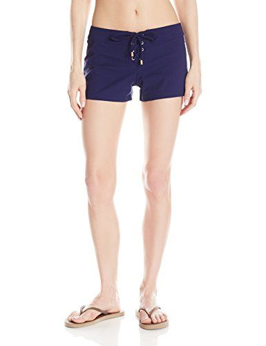 Helen Jon Women's Essentials 3 Inch Lace-Up Board Short, Navy Solid, 6   Special Offer: $78.00      477 Reviews 3 inch board shortLow-rise boardshort with lace-up front and single rear welt pocket