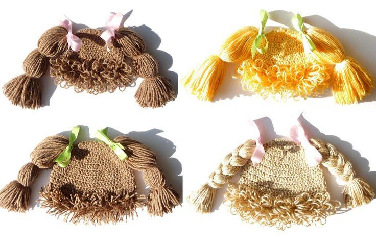 Child Hat Cabbage Patch Hat CROCHET PATTERN Crochet Hat Girl Halloween Costume Photo Prop Children Hats Kids Wig Cabbage Patch Kid Hat Wig zxcvvcxz 1.99 USD October 16 2015 at 12:11PM