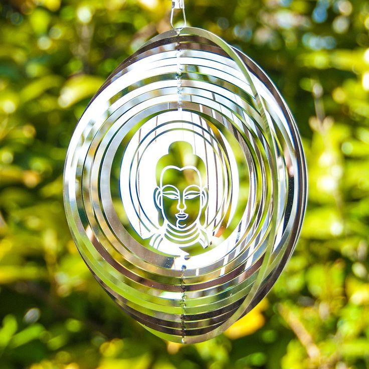 Buddha Windspiel Edelstahl für Feng Shui für Outdoor