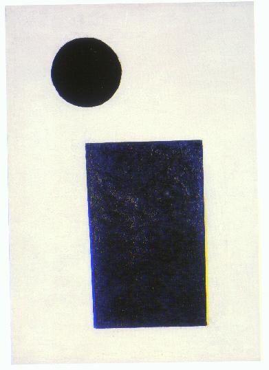 Kazimir Malevich - Rectangle and Circle (1915) 절대주의 검은 원과 푸린 직사가형의 매우 심플한 작업이다. 이 두 도형의  배치만을 보고 의아해 할수 있지만 작가의 의도보다 보는 이로부터 회화는 살아남는다는 주장에 따르면  이 두개의 도형은 감상자에게 다양한 생각의 빌미를 제공해주는 것 같다.