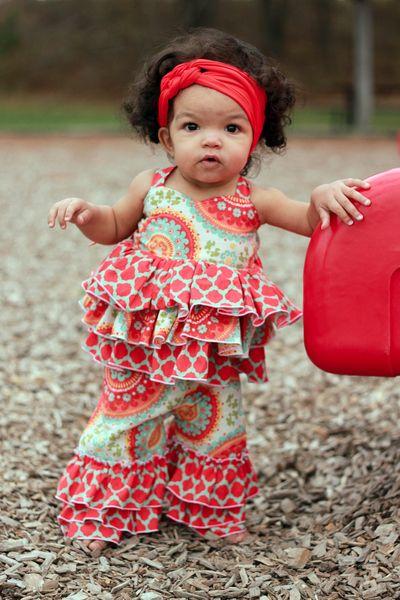 Create Kids Couture - Baby Kara's Triple Ruffle Pants and Capris PDF Pattern, $7.00 (http://www.createkidscouture.com/karas_babies.html)