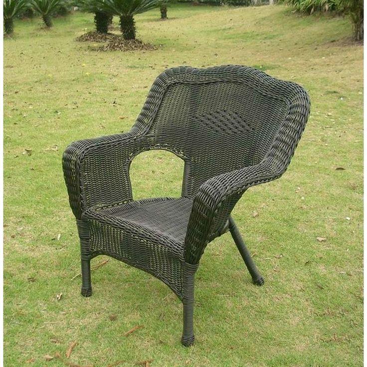 International Caravan PVC Resin/ Frame Outdoor Chair