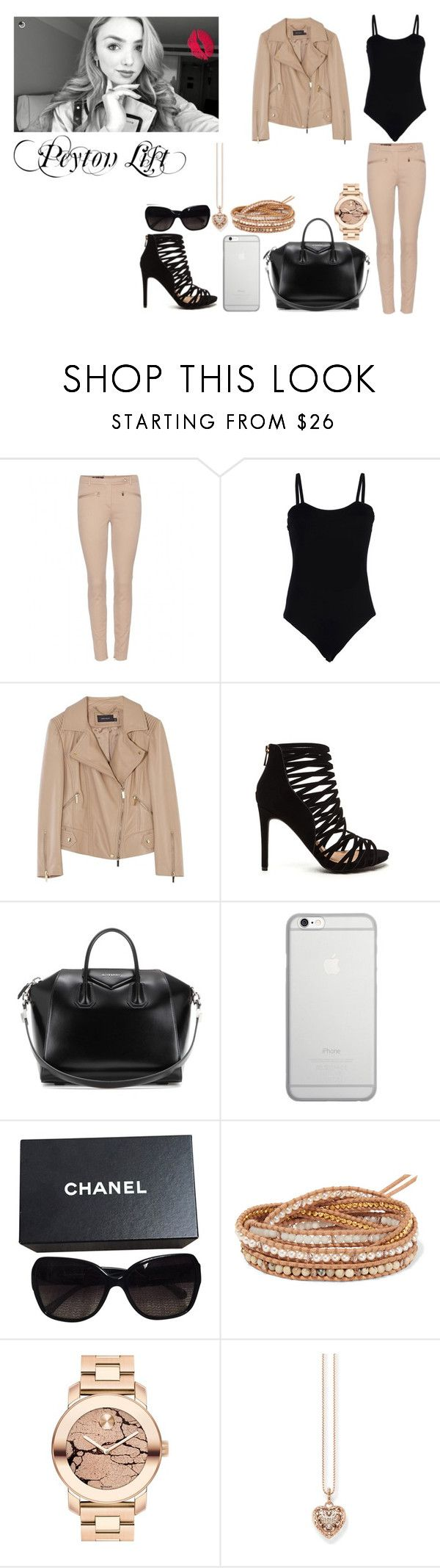 """""""Peyton List"""" by ludya ❤ liked on Polyvore featuring Loro Piana, Baguette....., Karen Millen, Givenchy, Native Union, Chanel, Chan Luu, Movado and Thomas Sabo"""