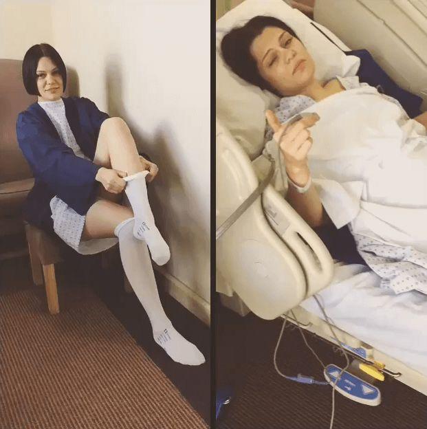 Jessie J sendet ihren Fans eine Nachricht aus dem Krankenhaus.