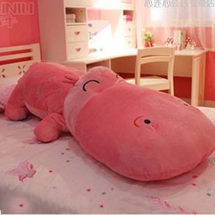 Hippo Плюшевые Игрушки Большого Размера Pp Cotton Игрушки Куклы Подарки Семейные Sleepping Подушки