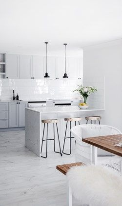 Revamped in Hamptons style #Beachwood kitchen stools
