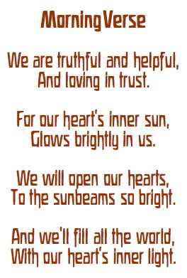 morning verse - this is such a cute one.  One of my favs thus far.