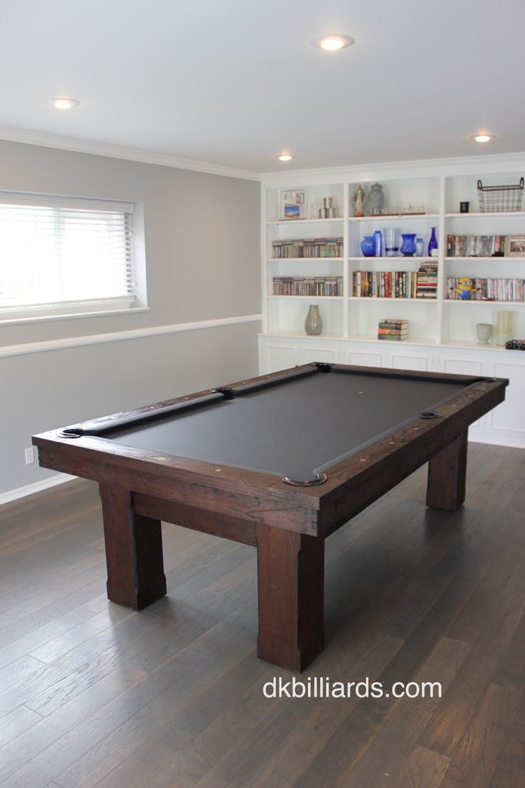Floral Park Rustic Pool Table – DK Billiards Pool Table Moving & Repair #dkbilliards #rustic #pooltable