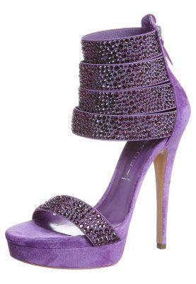 Højhælede sandaletter / Højhælede sandaler - lilla