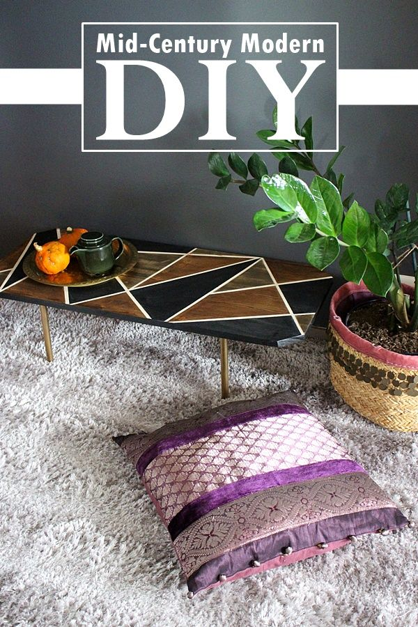 the creative night shift: Mid-Century Modern Table DIY