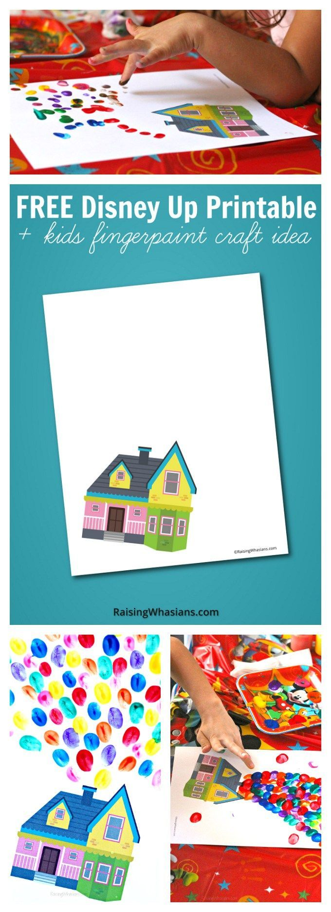FREE Disney Up Printable + Kids Craft Idea - Raising Whasians
