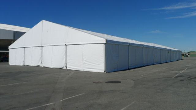 Losberger Marquee - carpark setting