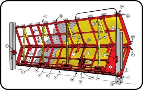 Bifold door bottom drive straps