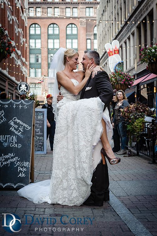 Fancy Photos by David Corey Photography Cleveland Ohio Wedding Cleveland Browns Themed wedding Danielle