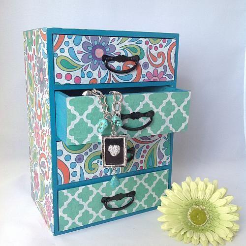 Paisley Punch Decou-Paged Jewelry Box -- Store all of your jewelry in an elegant jewelry box.  #decoartprojects