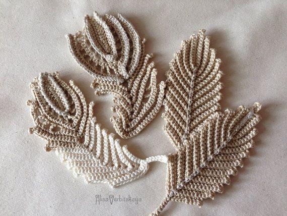 Applique 4 47 pollici 10-12 cm uncinetto irlandese di AlisaSonya