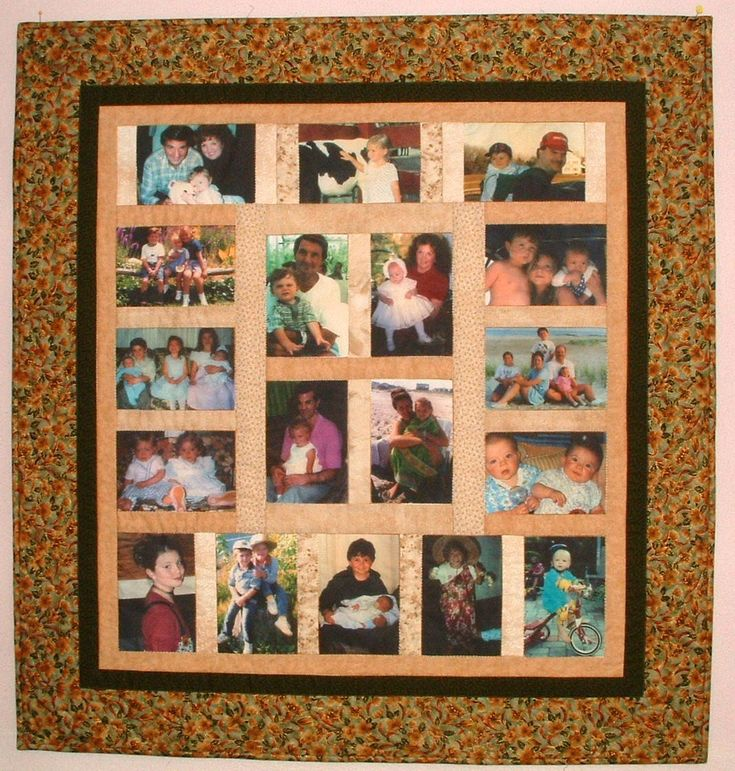 memory quilts | Photo memory quilt –given to grandparents containing photos of all ...