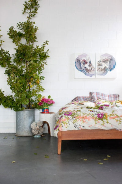 floral and nature inspired simple bedroom
