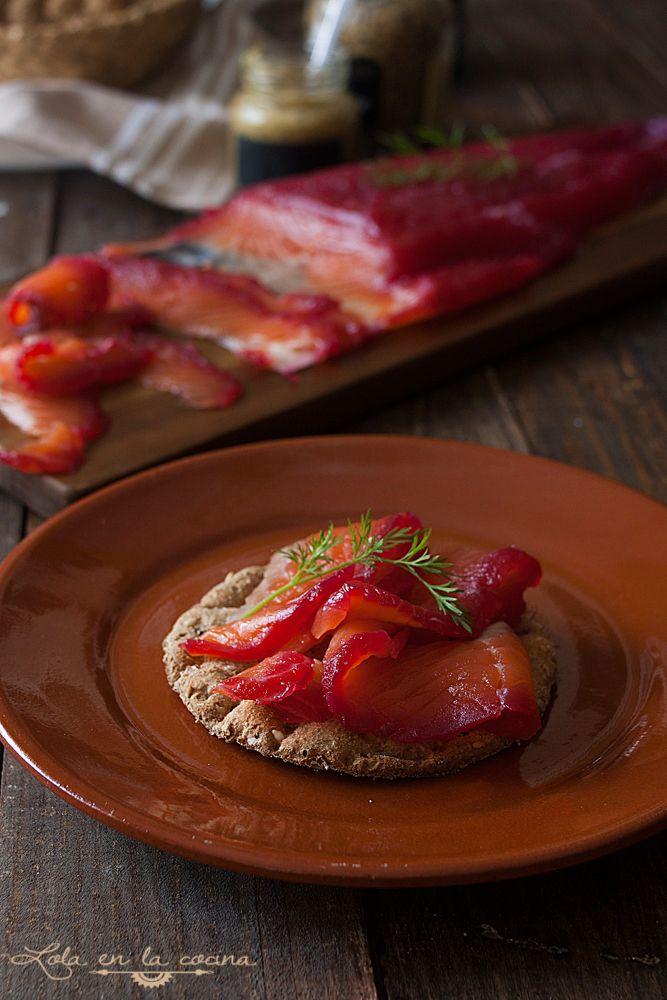 Lola en la cocina: salmon marinado con remolacha