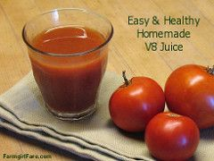 Farmgirl Fare: Recipe: How To Make Your Own V8 Juice (Easy Homemade Vegetable Tomato Juice)