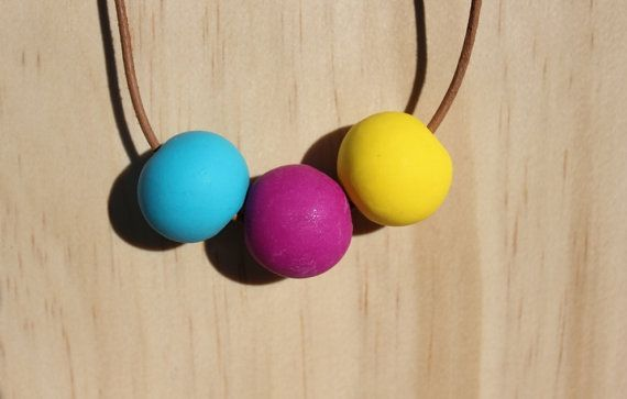 Colours of Summer - Ploymer Clay bead necklace