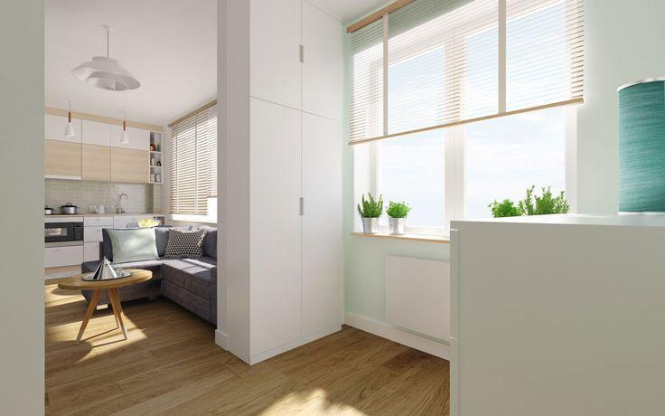 Mieszkanie dla singielki na Ursynowie, 30m2 - BOHO Studio