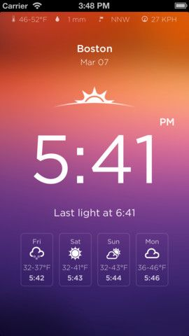 By Sunrise Sunset Calendar iphone ap