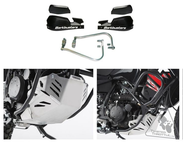 Standard Motorcycle Protection Package for Kawasaki KLR650 '08-'16 | TwistedThrottle.com