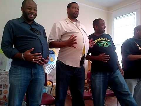pregnant man ,put on and tie your shoes the fastest. (game at baby shower )- YouTube