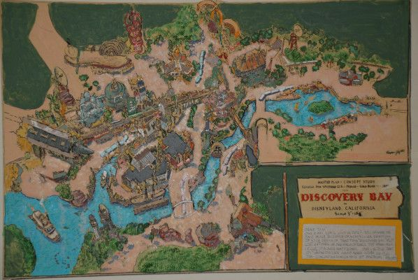 Discovery Bay Map Disneyland Never Built Harper Goff