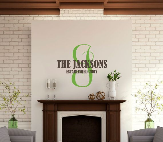 Best Personalized Last Name Wall Decals Images On Pinterest - Custom wall vinyl lettering