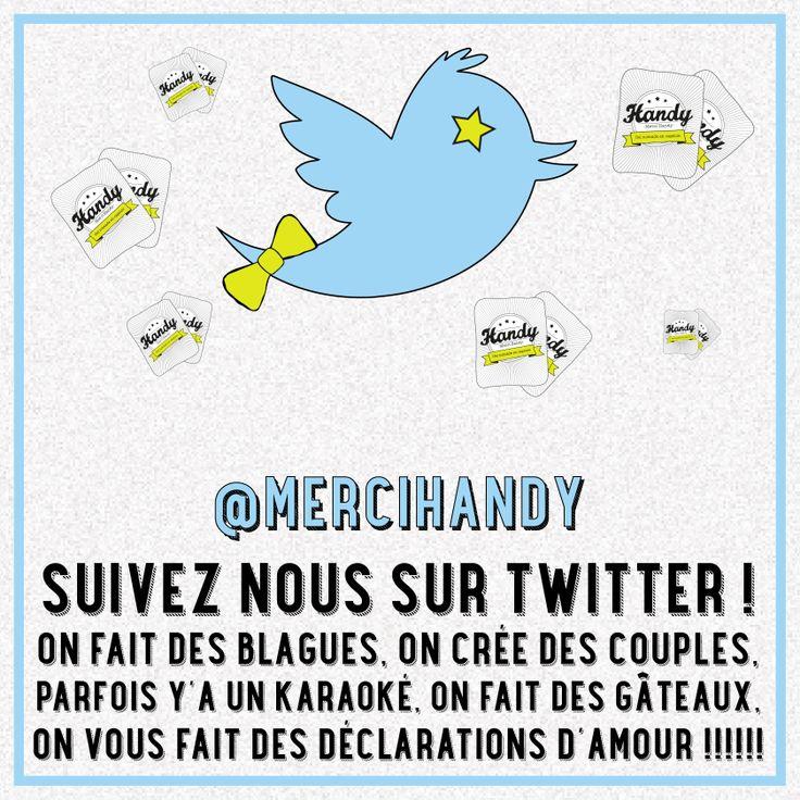www.mercihandy.fr #twitter #oiseau #karaoke #blagues #follow #amour #fun