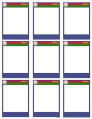Baseball Card Templates - Free, blank, printable, customize
