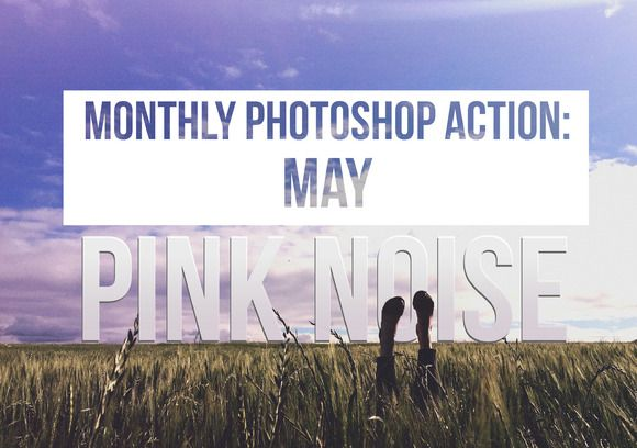 Monthly Photoshop Action: Pink Noise by Actions Schmactions on @creativemarket