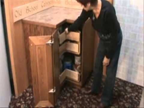 KornerKing - Awesome corner cabinet storage solution.  http://www.kornerking.com