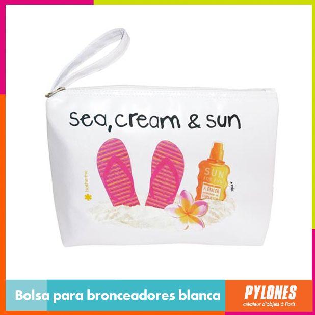 Bolsa para bronceadores blanca #SemanaSanta #Santo #Vacaciones  @pylonesco