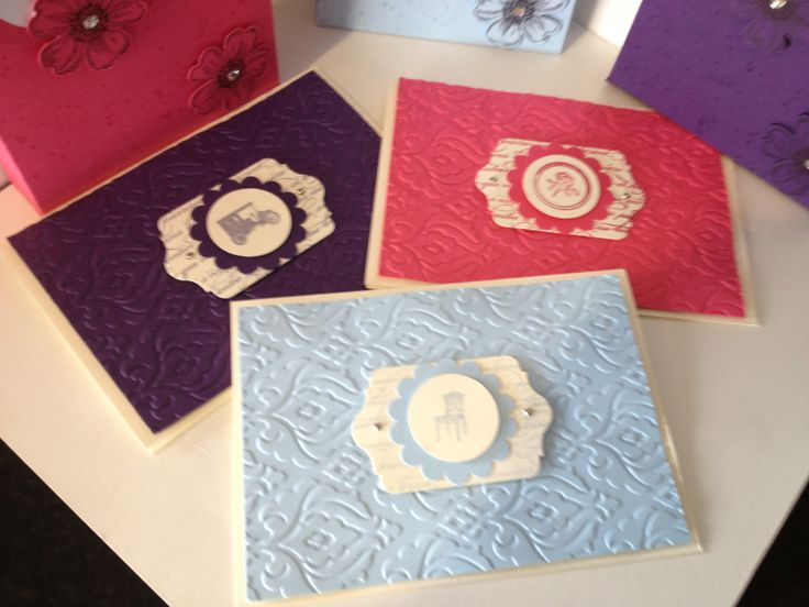 I cased these cards from a fellow Stampin' Up Demo Debbie Lamb, of course all products are Stampin' Up.