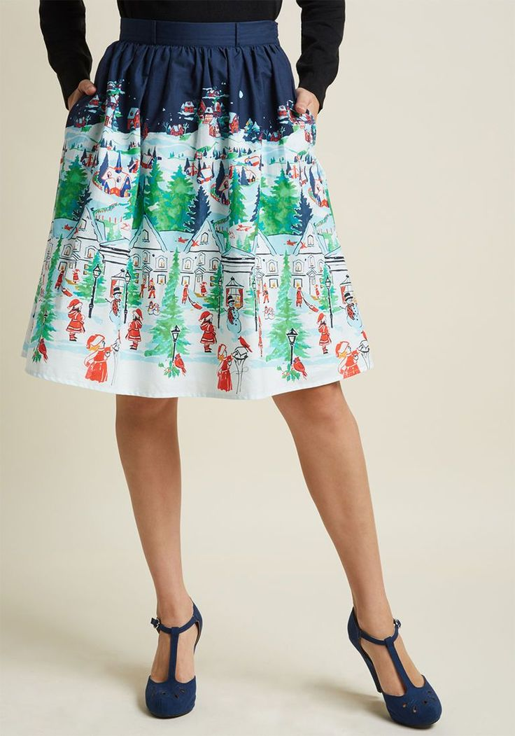 Charming Cotton Skirt with Pockets