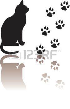 gatti: Zampe di gatto e di sagome