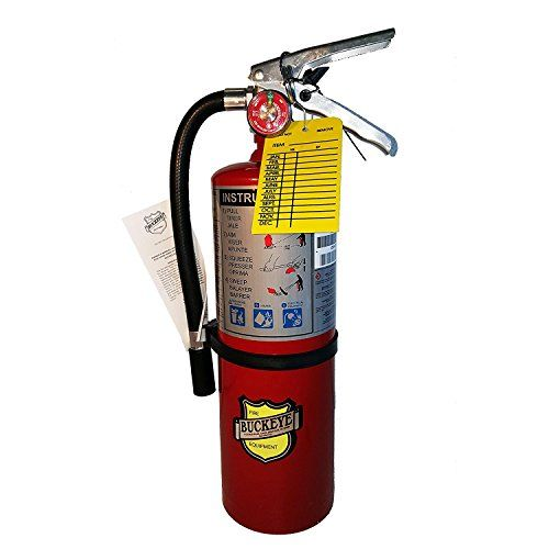 (Lot of 1) 5 Lb. Type ABC Dry Chemical Fire Extinguisher with 1 - Vehicle Bracket and 1 - Inspection Tag -- undefined