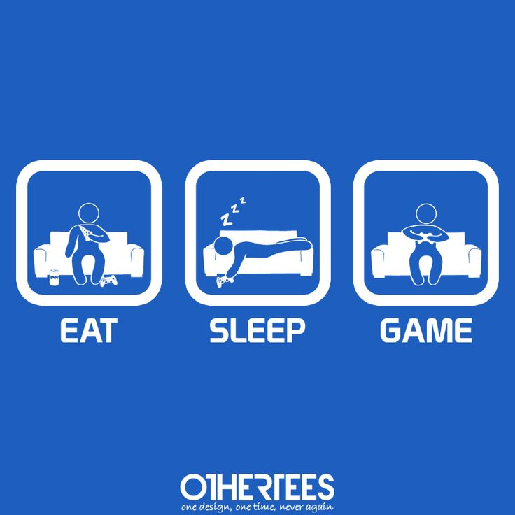 """Eat, Sleep, Game - Console"" by thehookshot Shirt on sale until 25 June on othertees.com Pin it for a chance at a FREE TEE! #xbox #ps3 #ps4 #console #games"