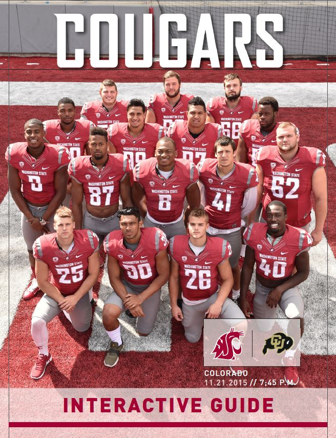 Get in the know for Washington State football vs. Colorado on November 21, 2015, with this Senior Day digital guide.